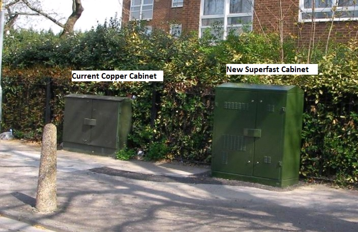 Image showing difference between green copper cabinet and green superfast cabinet